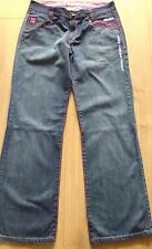 HENLEYS Delux Project NEW Indigo Blue Denim Jeans With Pink stitching Size 32 R