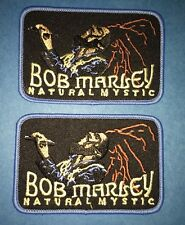 2 Lot Bob Marley Reggae Music Iron On Hat Jacket Backpack Hoodie Patches Crests