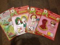 Lot of 4 Vintage Strawberry Shortcake Berry Wear Doll Outfits Kenner
