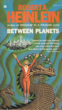 Between Planets by Robert A. Heinlein Paperback Ace Steele Savage Cover Art