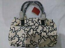 lotto 899 borsa borsetta beige e nera TOUS bauletto