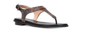 Michael Kors MK Plate Black/Bronze/Silver Glitter Sandal Women sizes 5-11!!!