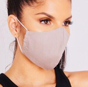 Face Mask Masks Khaki Protective Breathable Lightweight Washable Reusable
