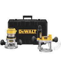 DEWALT 2-1/4 HP EVS Fixed Base & Plunge Router Combo Kit DW618PK New