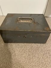 New ListingVintage Cole Steel Equipment Company Olive Green Metal Strong Box