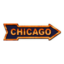 "Outdoor/Indoor Chicago Bears Colors Novelty Metal Arrow Sign 5"" x 17"""