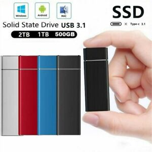 1TB 2TB Mini USB 3.1 External SSD Solid State Drive Portable Mobile Hard Drive