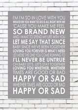 LET'S STAY TOGETHER - AL GREEN Typography Lyrics  Wall Art Print Poster A4