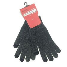 $189 Alfani Men'S Gray Touch Screen Stretch Fit Warm Winter Gloves One Size