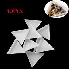 10Pcs/Set Triangle Plastic Nail Art Gem Glitter Crystal Rhinestone Sorting Trays