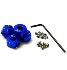 57807B 1/10 Scale RC M12 12mm Alloy Wheel Locking Hubs Adapter Nut Blue 7mm