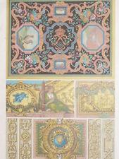 Mosaique Peintures Versailles Lebrun RACINET LITHOGRAPHIE Art Decoratif 1870