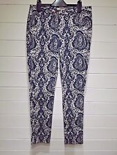 Papaya Trousers ~ Size 10 ~ Blue white ~ Casual Everyday Holiday ~ 1190