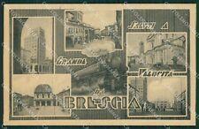 Brescia Città Saluti a Grande Velocità cartolina QK6701