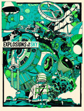 Explosions in the Sky Austin 2016 Tyler Stout Green Signed Poster Print Art