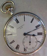 Ulysse Nardin Pocket Watch open face silver case 50 mm. in diameter