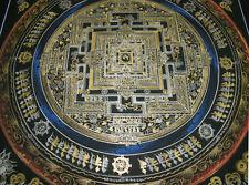 Kleines, aber sehr feines THANGKA! KALACHAKRA Mandala des Dalai Lama 25x25cm