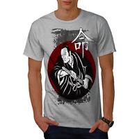 Wellcoda Angry Katana Look Mens T-shirt, Kimono Graphic Design Printed Tee