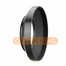 58mm metal wide angle screw in mount lens hood for Canon Nikon Pentax Sony