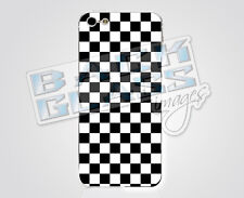 Checkerboard decal for iPhone 5 / 5S - glossy vinyl sticker