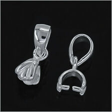 Sterling Silver Pinch Bail Clip Pendant Clasp 1PC #97250