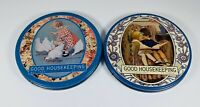 Lot Of 2 ~ Vintage Good Housekeeping 📖 Tin Containers ~ May 1925~ November 1921
