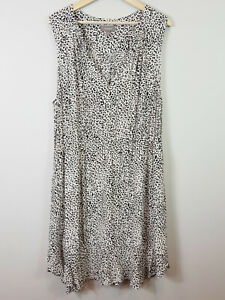 [ SUSSAN ] Womens Animal Print Ruffled Detail Dress  | Size AU 18 or US 14