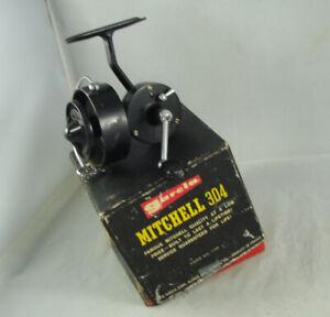 Old Vintage GARCIA MITCHELL No. 304 Spinning Reel + Box - Parts Reel