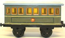 VINTAGE PRE-WAR SCARCE MARKLIN TIN HAND-PAINTED 1-GAUGE Red Cross HOSPITAL CAR