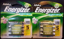 Qty~8 Energizer AAA Recharge 1000 cycle Rechargeable Batteries 1.2v 700mAh