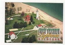 Fort Gratiot Lighthouse Michigan Postcard USA 409a ^