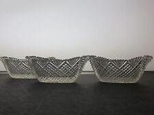 Cristal Tallado Antiguo Muy Pequeñas Excelente Calidad Crystal Bowl Conjunto de 3