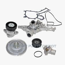 Mercedes Water Pump Fan Clutch Thermostat Tensioner Idler Pulley Kit OEM 112