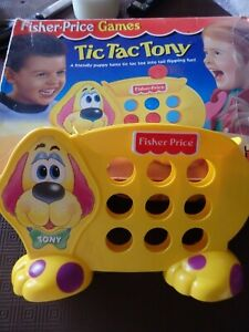 FISHER PRICE TIC TAC TONY VINTAGE KID'S TOY IN ORIGINAL BOX COMPLETE SET