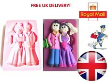 3D Bride & Groom Silicone Mould Fondant Cake Topper Modelling Tools Mold