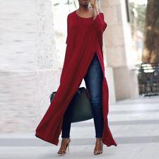 ZANZEA AU 8-24 Women Casual High Split Pullover Tee Top Shirt Club Party Blouse