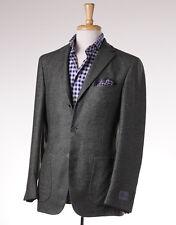 NWT $2395 BELVEST Green Birdseye Melange 100% Cashmere Sport Coat 44 R (Eu 54)