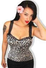 Women's Animal Print Cotton Blend Tank, Cami Tops & Blouses