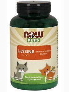 NOW, Pets L-Lysine Powder for Cats - 8 oz each - 2 Bottles