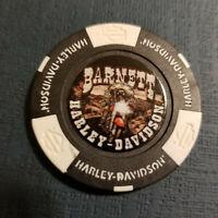 BARNETT HD ~ Texas ~ (Full Color Black/White) Harley Davidson Poker Chip