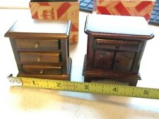Town Square Dollhouse Miniature 1 Walnut & 1 Cherry  Night Stand or End Table
