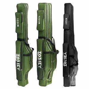 Fishing Rod Storage Bag Oxford Cloth 1/2/3 Layer Large Capacity Multifunctional