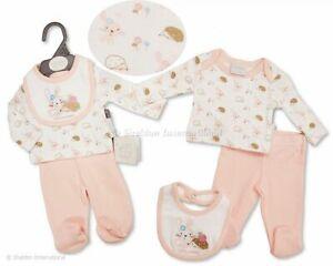 Preemie premature tiny baby girls 3 piece I love cuddles set 3-8 lbs