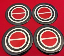 4pcs.1980-1996 FORD F150 BRONCO VAN Center Caps RED EMBLEM STICKERS BADGES LOGOS