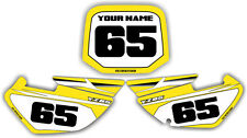 02-12 Yz85 Number Plate Backgrounds Graphics Decals Stickers MX Yellow Yz 85