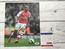 Theo Walcott Signed Arsenal Fc 8x10 Photo Psa/Dna Coa Autographed a