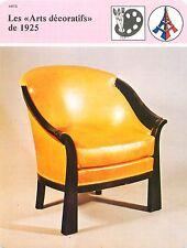 FICHE Arts décoratifs Art-Déco Fauteuil de Bureau Pierre Chareau  FRANCE 80s