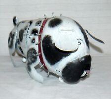 Metal Spotted English Bull Terrier Tea Light Sculpture Non Neutered Dog Balls