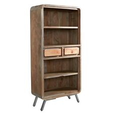 Large bookcase with 4 shelves and 2 drawers Kota Acacia Range[AS15]