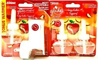 Glade PlugIns Scented Oil Limited Edition Cozy Cider Sipping 3 Refills & Warmer